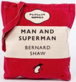 MAN AND SUPERMAN (RED) - TOTE BAG