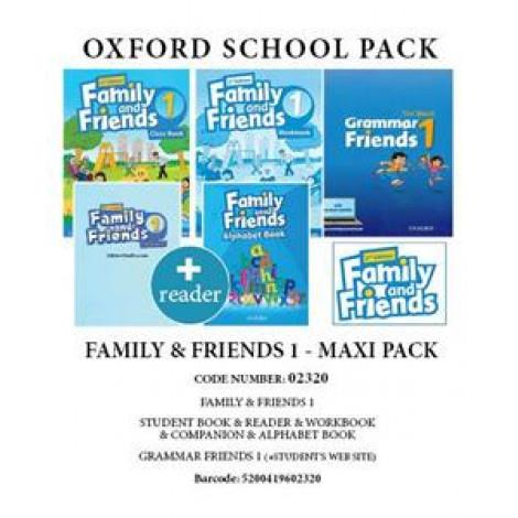 FAMILY AND FRIENDS 1 MAXI PACK (SB  WB  COMPANION  GRAMMAR FRIENDS 1 SB  WEBSITE READER  ALPHABET BOOK) - 02320