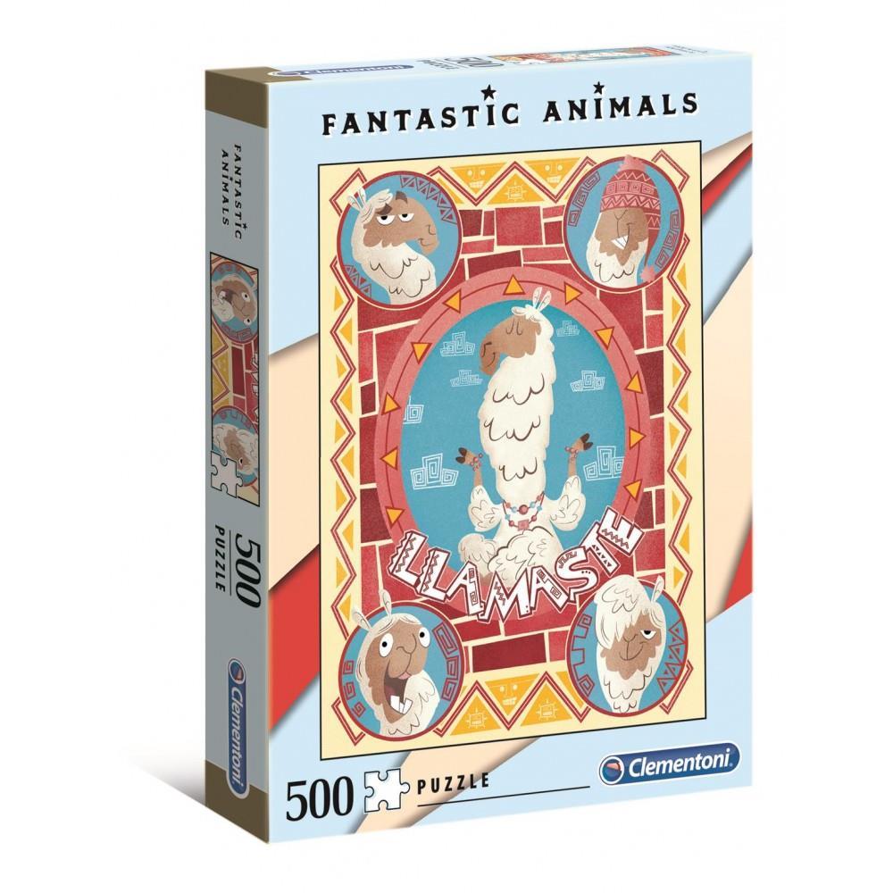 ΠΑΖΛ (PUZZLE) Clementoni 500 FANTASTIC ANIMALS
