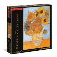 ΠΑΖΛ (PUZZLE) Clementoni 1000 MUSEUM VAN GOGH:GIRASOLI SQUARE BOX