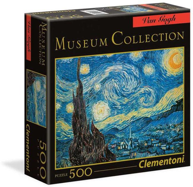 ΠΑΖΛ (PUZZLE) CLEMENTONI 500 MUSEUM H.Q. VAN GOGH ΝΥΧΤΑ ΑΣΤΕΡΙΩΝ SQUARE BOX