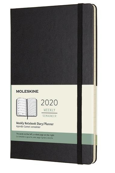 MOLESKINE WEEKLY NOTEBOOK LARGE BLACK HARD 2020