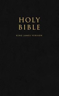 HOLY BIBLE King James Version (KJV) Popular Gift  Award Black Leatherette Edition PB