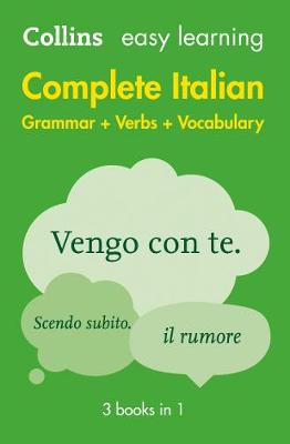 COLLINS EASY LEARNING : COMPLETE ITALIAN GRAMMAR  VERBS  VOCABULARY