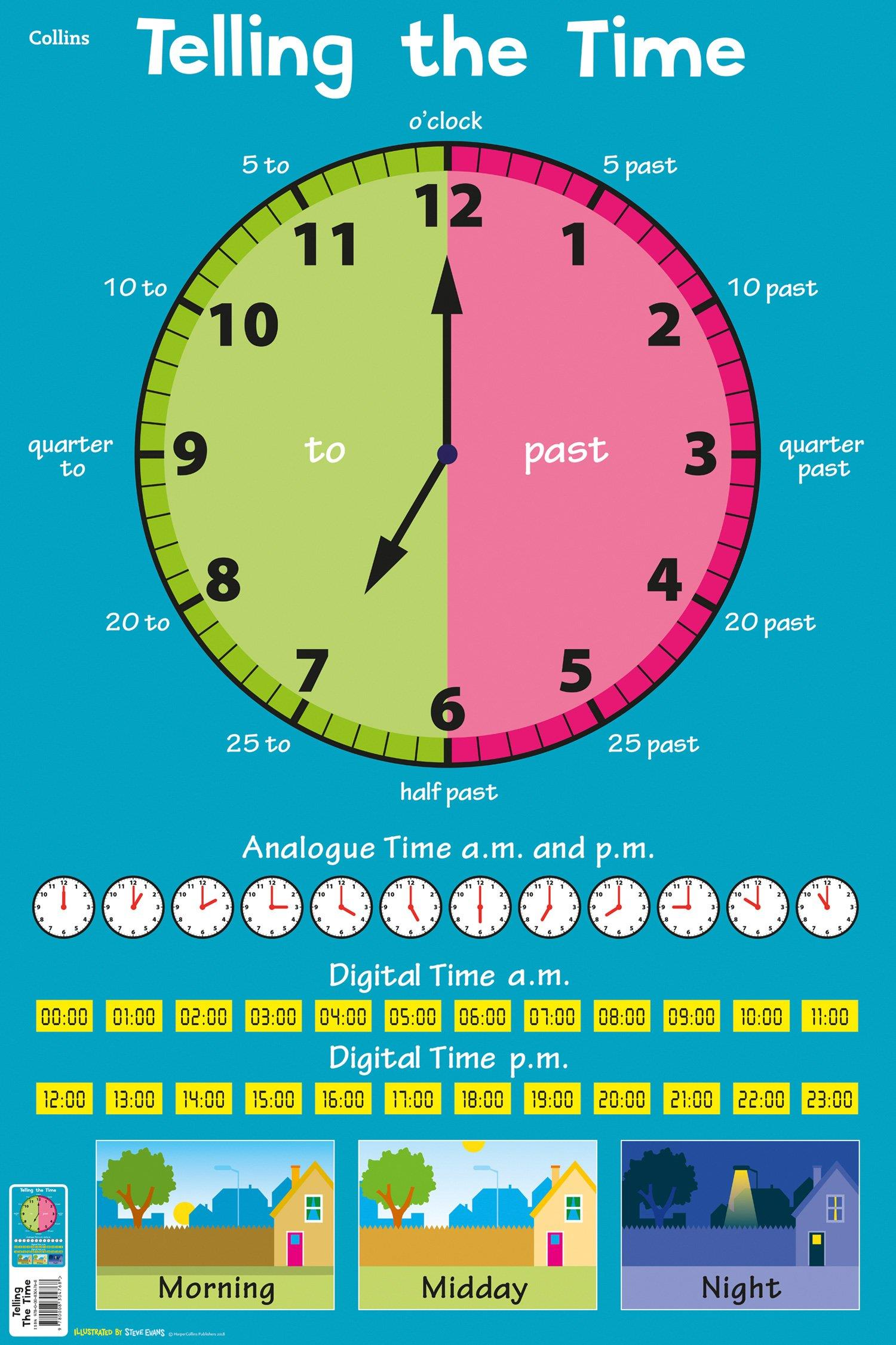 Telling the Time (Collins Children's Poster)