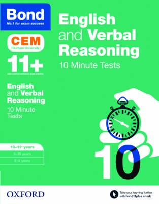 BOND 11 ENGLISH AND VERBAL REASONING 10 MINUTE TESTS