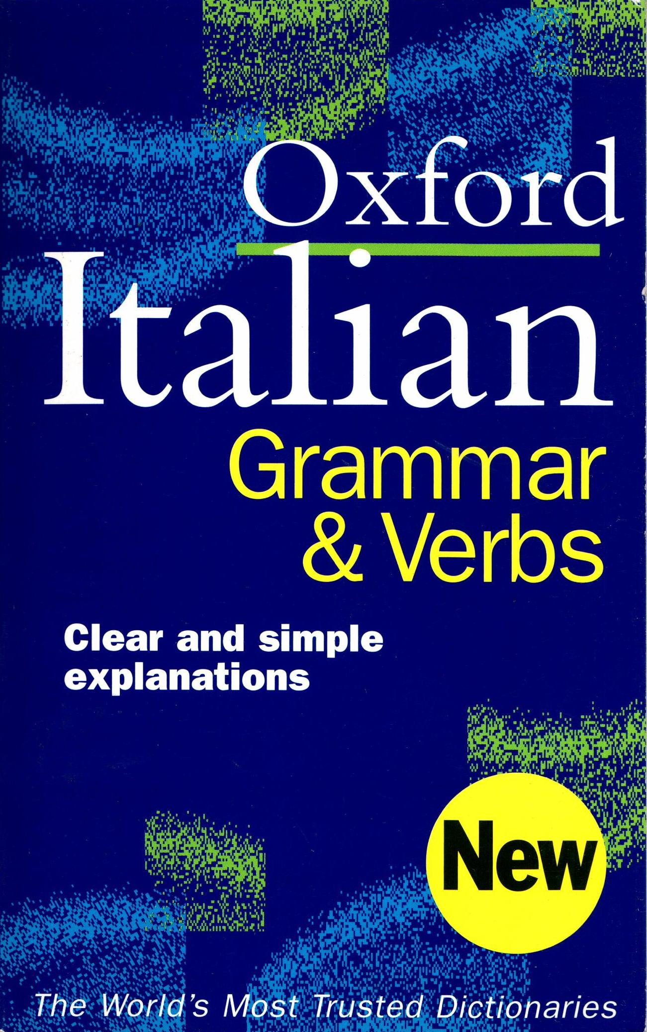 OXFORD ITALIAN GRAMMAR  VERBS  PB