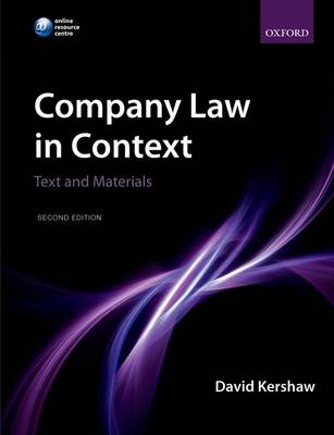 COMPANY LAW IN CONTEXT (TEXT AND MATERIALS) 2ND ED PB