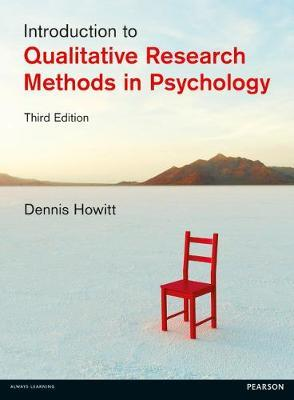 INTRODUCTION TO QUALITATIVE RESEARCH METHODS IN PSYCHOLOGY 3RD ED