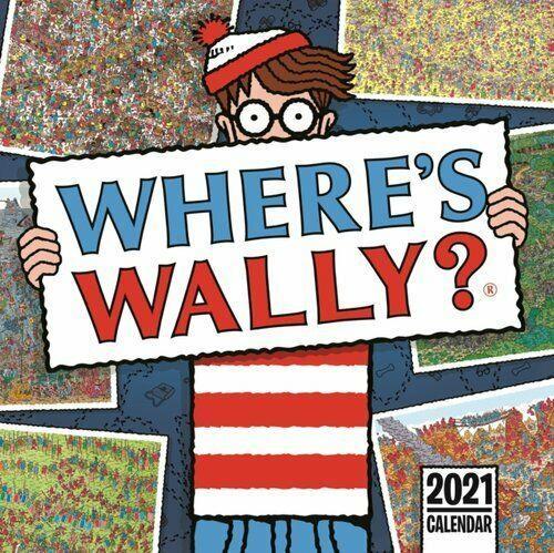 WHERES WALLY SQUARE WALL CALENDAR 2021