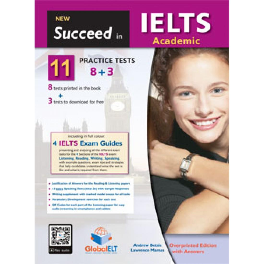 NEW SUCCEED IN IELTS ACADEMIC 11(8+3) PRACTICE TESTS TCHR S