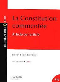LA CONSTITUTION COMMENTEE : ARTICLE PAR ARTICLE - COLL. LES FONDAMENTAUX DROIT POCHE