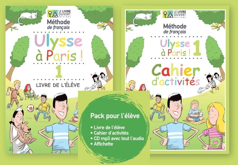 ULYSSE A PARIS 1 PACK ELEVE (LE + CA + CD mp3 + Affichette)