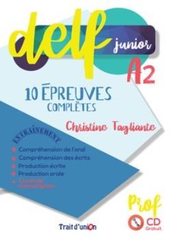 NOUVEAU DELF JUNIOR A2 10 EPREUVES COMPLETES